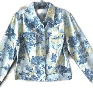 LIZ CLAIBORNE Women's Floral Blazer Jacket SIZE M